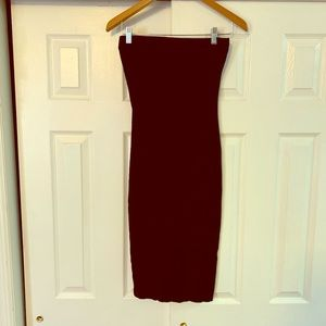 SHEIN Black Tube Top Strapless Dress Small